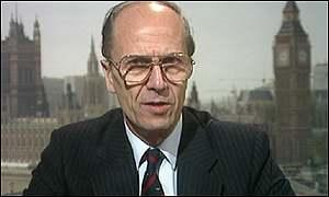 Norman Tebbitt, former Conservative Party chairman, who now has a lifetime peerage