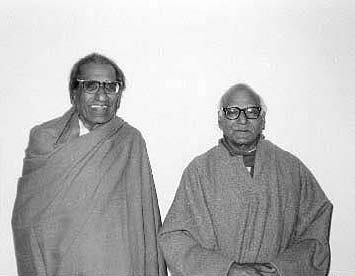 Sitaram Goel (right) with Ram Swarup (right)